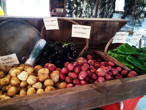 Organic vegetables at The Barn at Miller's Crossing